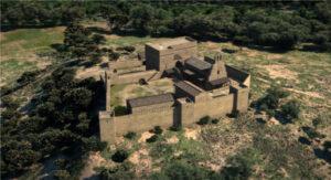 Castillo Gardeny en Lleida en primavera